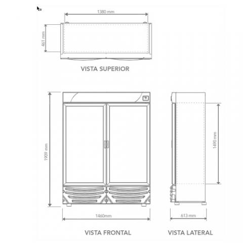 Productos destacados refrigcom - Dimensiones de una nevera ...